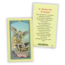 LAMINATED HOLY CARD - ST. MICHAEL THE ARCHANGEL