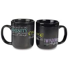 SERENITY PRAYER MUG - BLACK
