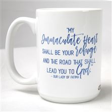 MY IMMACULATE HEART - FATIMA QUOTE MUG