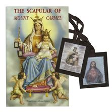 BROWN SCAPULAR OF MT. CARMEL AND BOOK