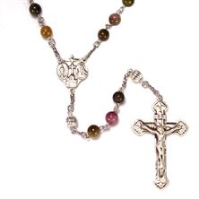 STERLING SILVER TOURMALINE DELUXE ROSARY