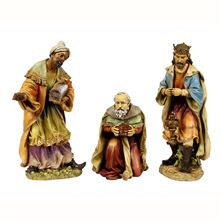 PAINTED OUTDOOR NATIVITY - SET OF THREE WISE MEN