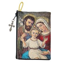 HOLY FAMILY - TAPESTRY ROSARY POUCH
