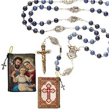 EWTN WARRIOR'S ROSARY and FREE HOLY FAMILY ROSARY POUCH