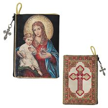 TWO HEARTS - TAPESTRY ROSARY POUCH