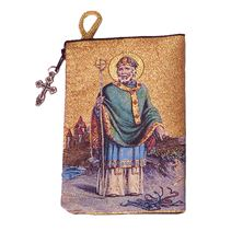 ST. PATRICK - TAPESTRY ROSARY POUCH