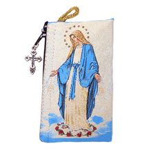 "OUR LADY OF GRACE TAPESTRY ROSARY POUCH - 3"" x 5"""