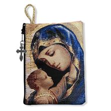 MADONNA AND CHILD ICON - ROSARY POUCH