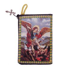 ST. MICHAEL TAPESTRY - ROSARY POUCH