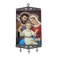 HOLY FAMILY ICON - TAPESTRY BANNER