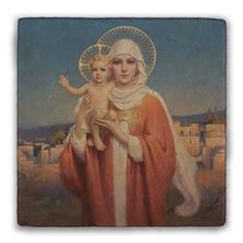 OUR LADY OF PALESTINE TUMBLED STONE TILE