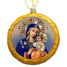 VIRGIN OF THE ETERNAL BLOOM GOLD ICON ORNAMENT