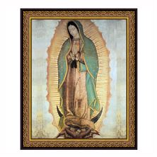 OUR LADY OF GUADALUPE FRAMED UNDER GLASS