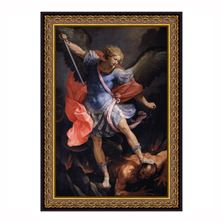 ST. MICHAEL PREMIUM PRINT UNDER GLASS