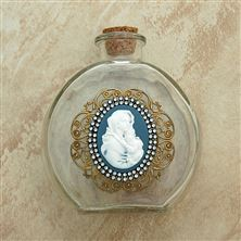MADONNA AND CHILD VINTAGE HOLY WATER BOTTLE