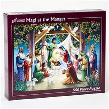 MAGI AT THE MANGER 550 PC. JIGSAW PUZZLE