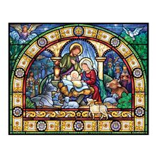STAINED GLASS HOLY NIGHT - 1000 PC. PUZZLE