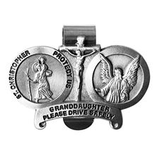 ST. CHRISTOPHER VISOR CLIP - GRANDDAUGHTER