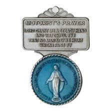 OUR LADY OF GRACE VISOR CLIP WITH BLUE ENAMEL