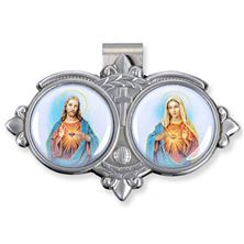 SACRED HEART and IMMACULATE HEART VISOR CLIP