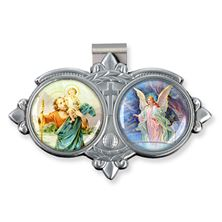 ST. CHRISTOPHER and GUARDIAN ANGEL VISOR CLIP