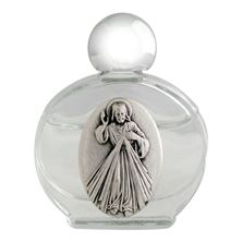 GLASS HOLY WATER BOTTLE - DIVINE MERCY
