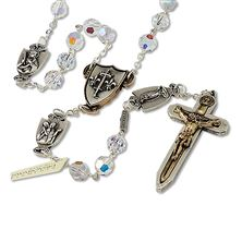 SWAROVSKI CRYSTAL - FEMALE WARRIOR ROSARY