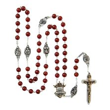 WARRIOR'S ROSARY - LARGE RED AGATE