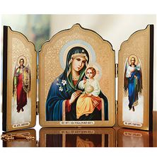 VIRGIN OF THE ETERNAL BLOOM ICON TRIPTYCH