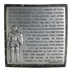 ARMOR OF GOD DESK PLAQUE