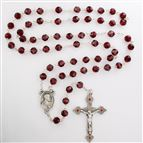 SACRED HEART ROSARY - RED BEAD
