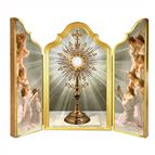 MONSTRANCE WITH ADORING ANGELS TRIPTYCH
